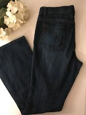 AXCESS Liz Claiborne Womens STRETCH favorite fit FLARE Dark Wash Jean sz 10 F14