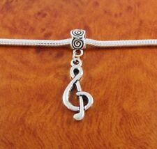 Precioso Plata Clave De Sol Nota Musical Clip encanto-de plata tibetana