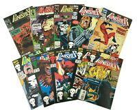 Lot of 10 The PUNISHER Marvel COMIC Books 80s 90s KINGPIN 15 16 Eurohit SURVIVAL