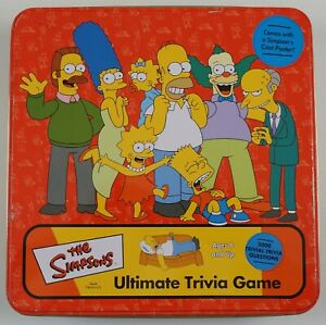 the Simpsons Ultimate Trivia Game COMPLETE w poster & tin - over 2000 questions!