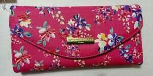 Adrienne Vittadini Trifold Clutch Floral Pink Wallet New With Tag & RARE