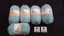 my boshi Wolle (Baumwolle) Nr.2 Himmelblau 5 Knäuel a50gr.und 2 Label