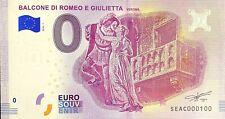 BILLET 0  EURO BALCONE DI ROMEO E GIULIETTA   ITALIE  2018  NUMERO 100