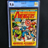 Avengers #100 💥 CGC 9.6 White Pgs 💥 Enchantress & Ares Appearance! Marvel 1972