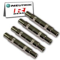 "4-Pack Neutrik REAN NYS236 1/4"" TS Mono Female Jack Adapter Coupler Guitar 6.35"
