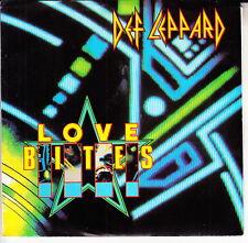 "DEF LEPPARD  Love Bites  PICTURE SLEEVE 7"" 45 record + juke box title strip NEW"