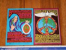 1967 The Doors Winterland Double Handbill / Postcard Bg 99-100, Maclean Art