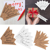 100pcs Kraft Paper Tag Wedding Birthday Party Favor Gift Label Tags with String