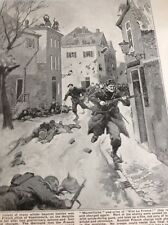 f1c Ww1 Book Plate French Troops Take Vassincourt France At Bayonet Point