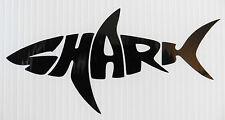 Tiburón Peces Animales stickers/car/van / bumper/window/decal 5337 Negro