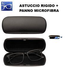 Astuccio / Custodia Rigida per Occhiali + Panno in Microfibra per la Pulizia