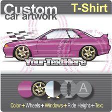 Custom T-shirt for 89-94 R32 Nissan Skyline GT-R GTS-4 GTE V-spec Nismo N1 Fans