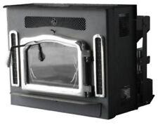 Crossfire Flex-Fuel Stove with Fireplace Insert & Brushed Nickel Door