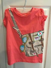 NWT Gymboree Sunny Safari Crossbody Satchel Bag Shirt Top Coral Orange 4