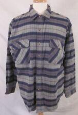Vintage Herman Survivor Blue Plaid Shirt Size XL Cotton L/S Button Front Heavy