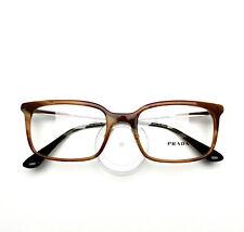 PRADA Eyeglasses frame Brown Havana 16U FHX 53-19-145 no case