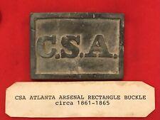 New listing Csa Rectangle Confederate States America Belt Buckle R E P L I C A