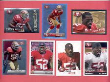 2011-2014 Panini PATRICK WILLIS San Francisco 49ers Sticker Lot