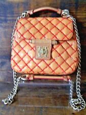 Olivia Harris Joy Gryson Purse Camel Quilted Leather Cross Body Gustavia