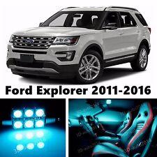 12pcs LED ICE Blue Light Interior Package Kit for Ford Explorer 2011-2016