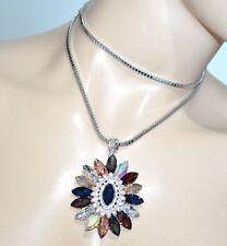 Collier Bracelet Imbriquee Chaine Fleur Insecte Jaune Rouge Multicolore CT2 FUN4