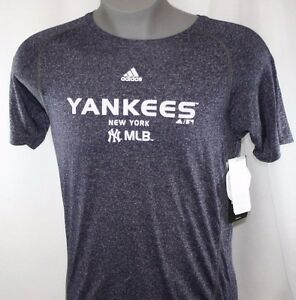 NEW Youth Boys Kids Adidas Clima Lite New York NY Yankees Baseball MLB Shirt
