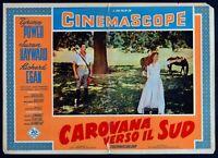T113 Fotobusta Caravan Verso Die Südstaaten Tyrone Power Susan Hayward Egan 7
