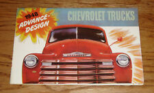 1948 Chevrolet Truck Full Line Foldout Sales Brochure 48 Chevy Pickup Panel