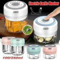 Electric Mini Garlic Chopper Meat Grinder Crusher For Nut Food Vegetable Y5J7