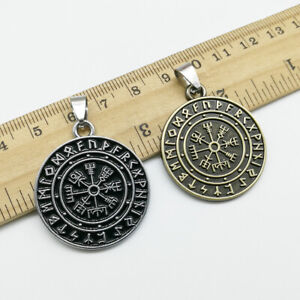 Wholesale retro pirate rune compass charms pendant Jewelry DIY necklace 35*30mm