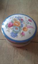 """VINTAGE MIKASA """"Cozette"""" Piatto in ceramica e coperchio con motivo floreale dal Giappone"""