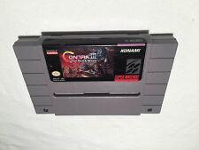 Contra III: The Alien Wars (Super Nintendo SNES) Authentic Game Cartridge Exc!