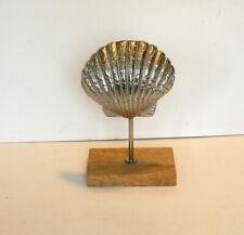 Cast Aluminum Seashell on Stand Beach House Decor