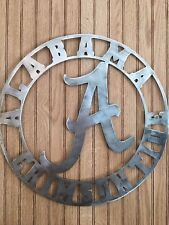 "Crimson Tide CNC Plasma Cut Steel BARE METAL 17"" IN DIAMETER FREE SHIPPING"