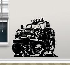 Monster Truck Wall Decal Jeep Car Wrangler Vinyl Sticker Art Decor Mural 36thn