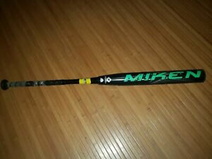 Miken Ultra II Black Maxload 27oz 2-Piece Senior Softball Bat Used