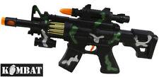 Bambini Ragazzi Esercito Soldato GIOCO M4 Potenza di Fuoco Toy Machine Gun Luce Suono VIBRA