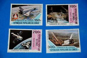 = Luna 17 - Shuttle - Columbia - Moon - Spaceship Space Full Set of 4 q20