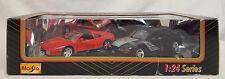 Maisto FERRARI 348ts & Ford Mustang BOSS SHINODA 1/24 Diescast Set of 2 Cars NEW