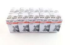 10 x H7 Osram Classic Lámparas Lámpara 12 VOLTIOS 55 Vatios bulbo de la bombilla