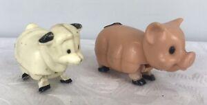 Vintage Playskool Lil Playmates Sheep and Pig Figures - Heads and Legs Move