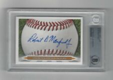 ROB MANFRED Signature Card AUTO signed BAS Beckett Authentic autographed