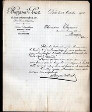 "PARIS (XI°) COLLES / SICCATIFS ""BURGAUD & SENET"" en 1906"