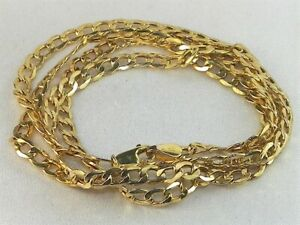 """10k Yellow Gold .417 Curb Cuban Link Chain 20"""" Fine Necklace"""