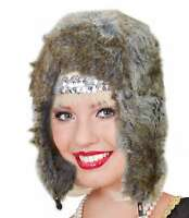New Mens Womens Unisex Knitted Faux Fur Winter Warm Lined Trapper Ski Hat Strap