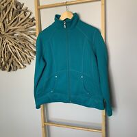 Black Pepper Size 12 M Green Zip Up Sweatshirt Jumper Women's Active Wear Sports