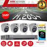 Hik Home Surveillance CCTV Kit 4 x 5MP HD 1080P Dome Cameras 4 Channel 4K DVR1TB