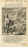 Antique Profession Print-FISHER-FISH-Luyken-1704