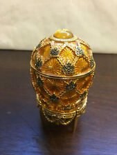 Joan Rivers Collector Egg with Stand, Gold Gilt design