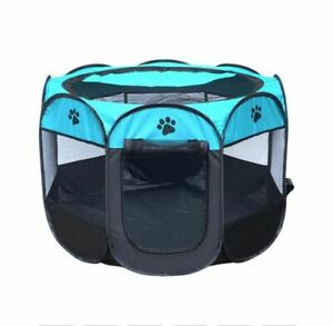 Foldable Pet Play Pen 58WcmX38cmX90Lcm Diameter Suitable Puppies 🐶& Kittens🐱